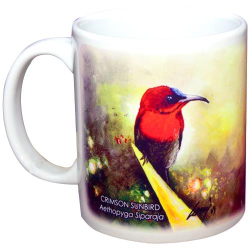 printed mug bird design kadaiku sabah souvenirs handicrafts