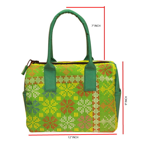 Dastar-Mini-Duffel-Bag-(Green)—Front