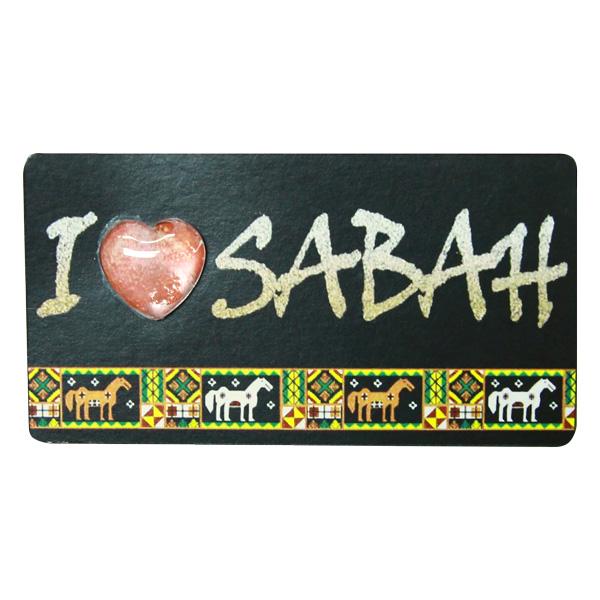 Foil-Fridge-Magnet—I-Love-Sabah-(Bajau)