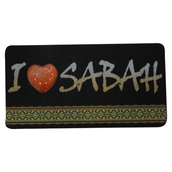 Foil-Fridge-Magnet—I-Love-Sabah-(Kadazandusun)