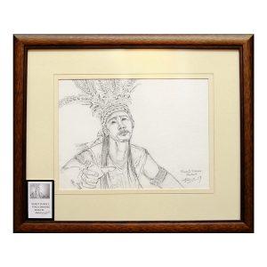 Painting---Murut-Glance-(Black-&-White)